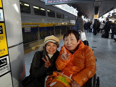 東京駅でお見送り