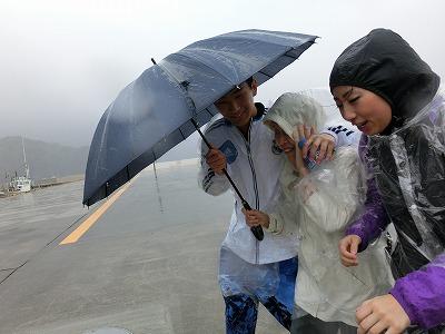 4月2日AM強風と雨の中「父島」上陸