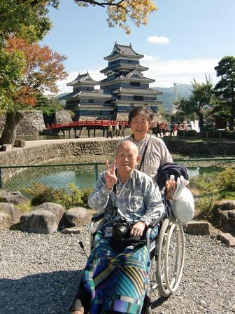 お嬢様と松本城