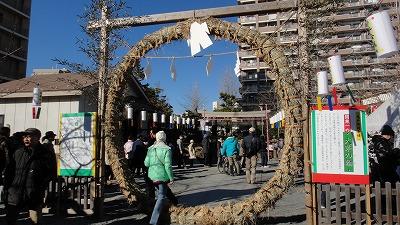 ⑤130101 初詣 浅間神社 茅野輪
