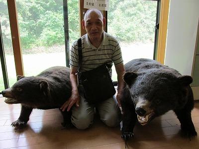 IMG_1374 ガイドさんがつかまえたという熊の親子の剥製