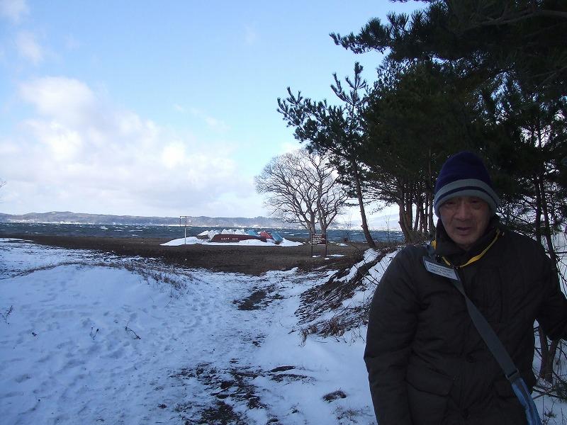 ⑯0101⑮天神浜から猪苗代湖。風強い!!