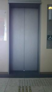 群馬県庁展望エレベーター入り口