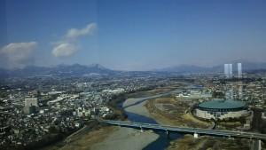 群馬県庁展望ロビーからの眺望(北側)