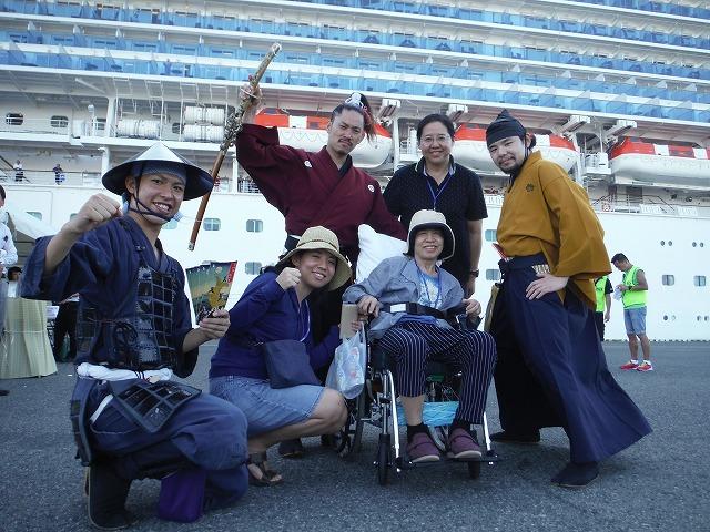名古屋港にて