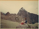 At Machu Pichu  photed by Ono  19721110