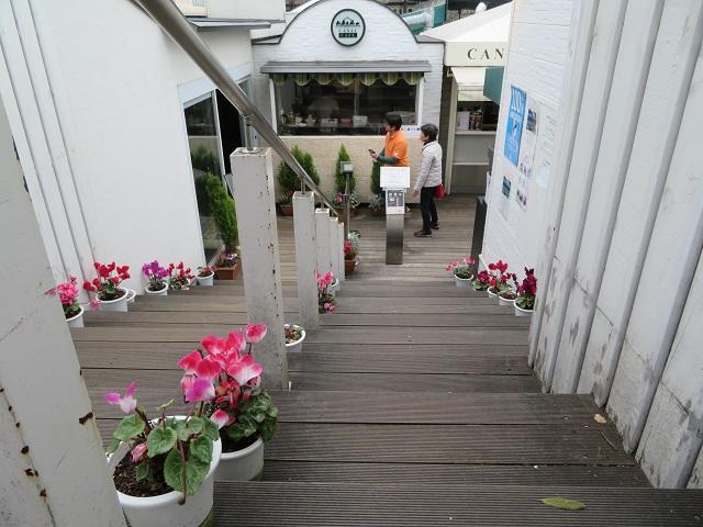 カナルカフェの階段
